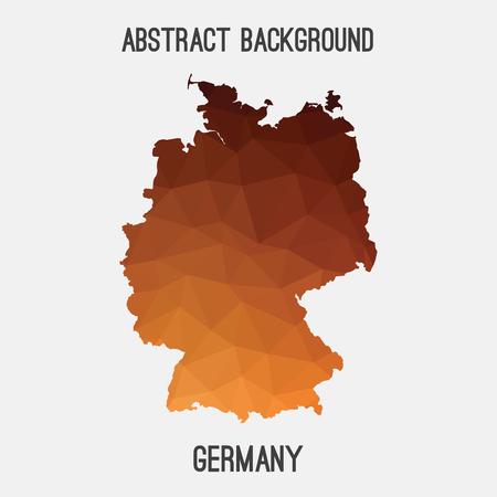 66765580 mapa germany deutschland en la teselacin geomtrica styleabstract poligonal moderno diseo de fondo