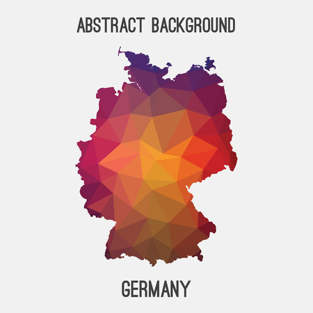 stuttgart: Germany, Deutschland map in geometric polygonal style.Abstract tessellation, modern design background