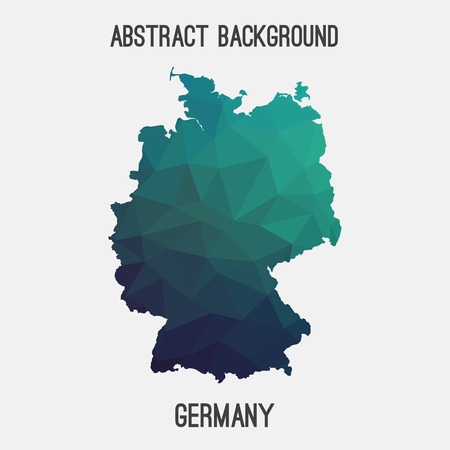 stuttgart: Germany, Deutschland map in geometric polygonal style.Abstract tessellation, modern design background. Vector illustration EPS8 Illustration