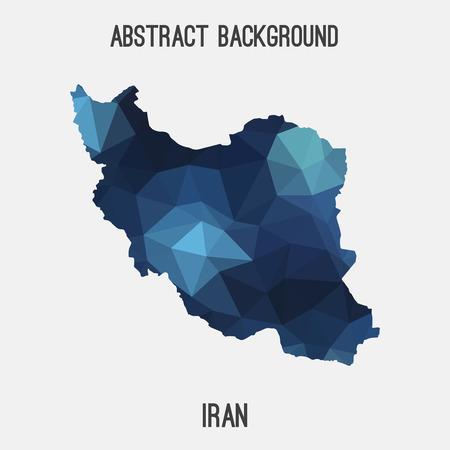 iran mosaic: Iran map in geometric polygonal, mosaic style.Abstract tessellation, modern design background, low poly. illustration.