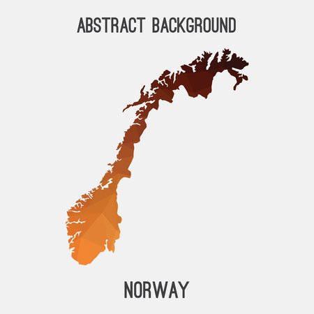Norway map in geometric polygonal, mosaic style.Abstract tessellation, modern design background, low poly. Vector illustration. Illustration
