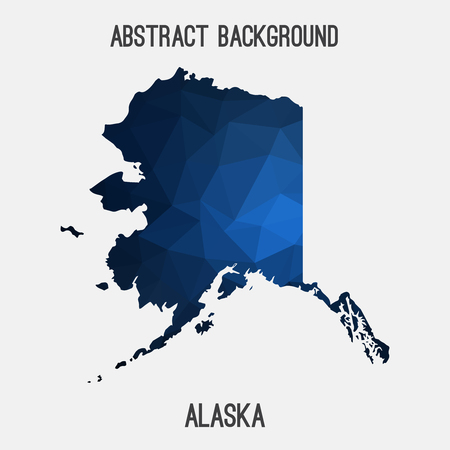 alaskan: Alaska map in geometric polygonal, mosaic style.Abstract tessellation, modern design background.