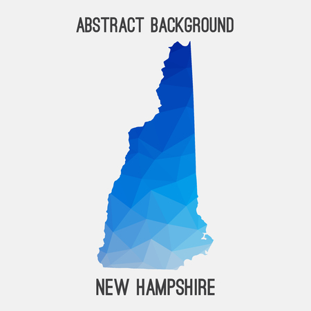 New Hampshire map in geometric polygonal, mosaic style.Abstract tessellation, modern design.