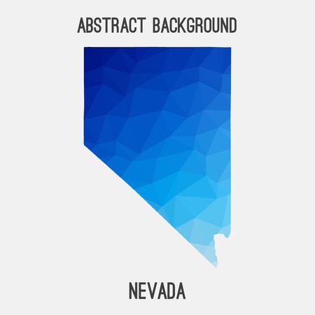 Nevada map in geometric polygonal, mosaic style.Abstract tessellation, modern design. Illustration