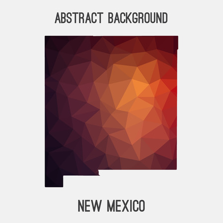 New Mexico map in geometric polygonal, mosaic style. Illustration