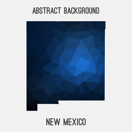 New Mexico map in geometric polygonal, mosaic style.Abstract tessellation, modern design background. Illustration