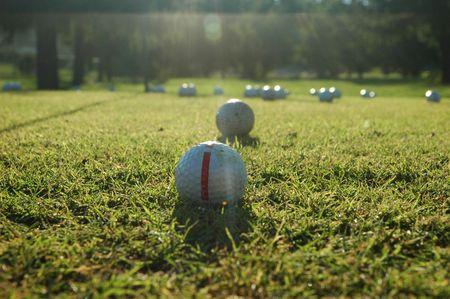 balls on the golf field
