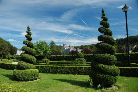 Trees. Durbue park. Belgium