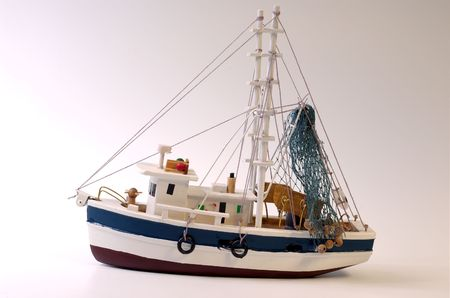 Wooden scale model of Dutch schooner