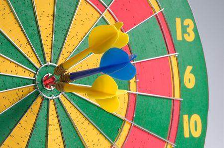 Three arrows in bullseye