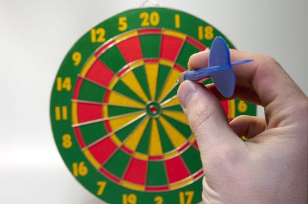 Throwing first arrow (darts game)
