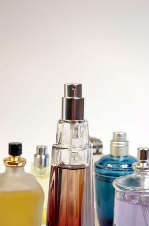 several bottles of perfume Stock Photo