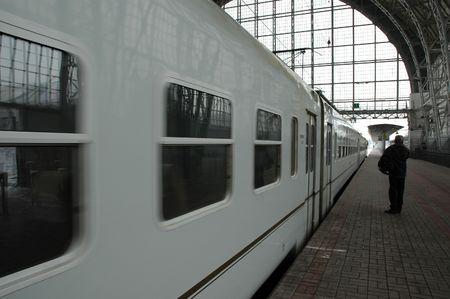 Departuring train