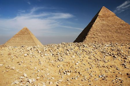 Pyramids in Cairo, Egypt. March 2006