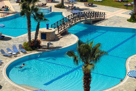 Swimming pool territory Stock Photo