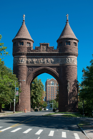 The Soldiers and Sailors Memorial Arch is a notable memorial to the American Civil War located in Hartford, Connecticut. It was the first permanent triumphal arch in America, and honors the 4,000 Hartford citizens who served in the war, and the 400 who di Editorial
