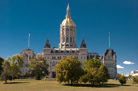 Connecticut State Capitol building is located north of Capitol Avenue and south of Bushnell Park in Hartford, the capital of Connecticut. The current building is the third capitol building for the State of Connecticut since the American Revolution.