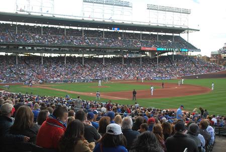 Chicago Cubs Wrigley Field Baseball Diamond Chicago IL.