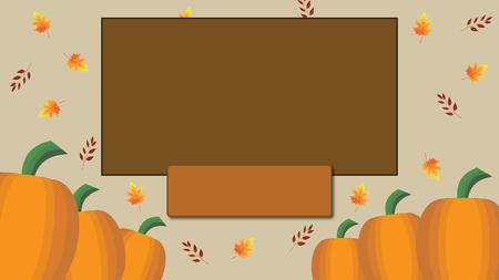 Fall Autumn Harvest Blank Card Stock Photo