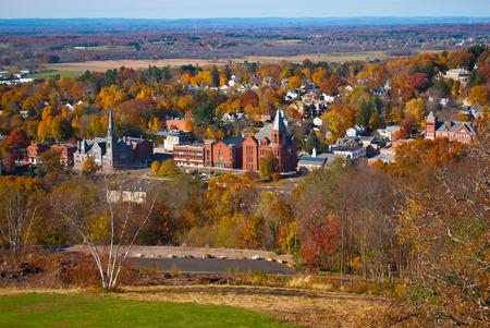 Scenic Vernon and Ellington CT to Massachusetts Autumn View