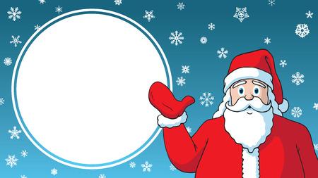 Christmas Sale cartoon santa claus design advertising template sign