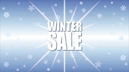 Winter Sale Background Special Offer Banner Background for Business and Advertising with snowflakes Stock Photo