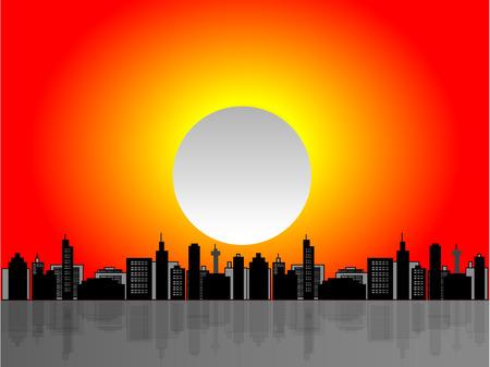 Vector illustration of a cityscape scene Vector