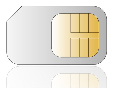 roaming: Mobile phone sim card vector Illustration