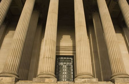 Columns on St Georges Hall, Liverpool, England, completed in 1854 photo