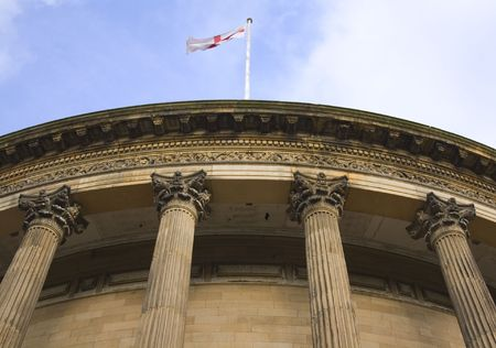 Neoclassical columns on Central Library Liverpool Uk built in 1875 Stock Photo - 2562821