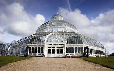 liverpool: Sefton Park Palm house, Liverpool, England, completed in 1896