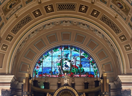 Interior of St Georges Hall, Liverpool, UK. Grade 1 listed building Editorial