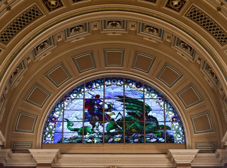 georges: Interior of St Georges Hall, Liverpool, UK Editorial