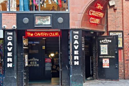 The Cavern Club, in Mathew St, Liverpool, UK  Editorial