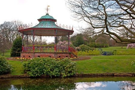 Bandstand in Sefton Park, Liverpool  photo