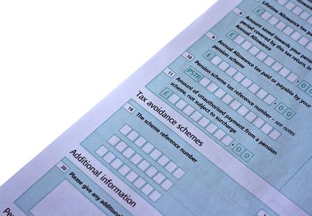 UK taxe return, focus on the word Tax