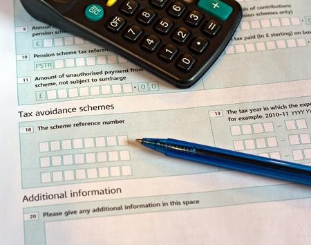 rendement: Groot-Brittannië taxe rendement, richten zich op het woord Belastingdienst