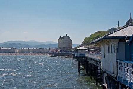 Llandudno pier in Wales UK, on a bright sunny day