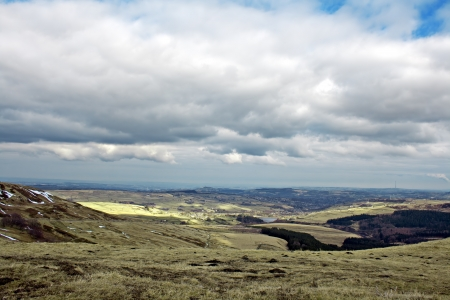 south west england: View from Holme Moss, looking towards Holmfirth in the South Pennines, West Yorkshire, England, UK