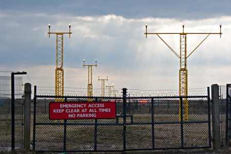 Emergency access gate to airfield Stock Photo - 18873622