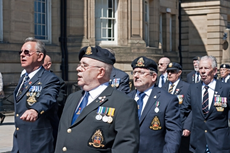 LIVERPOOL, UK, 26TH MAY 2013, Veterans march through city to commemorate 70th anniversary of The Battle of the Atlantic in Liverpool on 26th May 2013