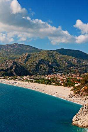 oludeniz: Oludeniz beach in Turkey on a beautiful summers day Stock Photo