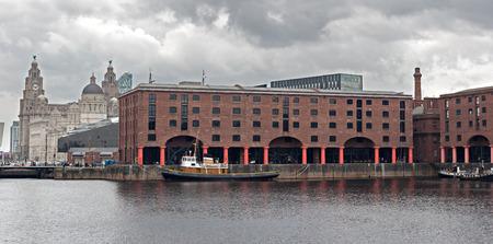Albert Dock and Liver Buildings Liverpool UK Stock Photo - 27311029