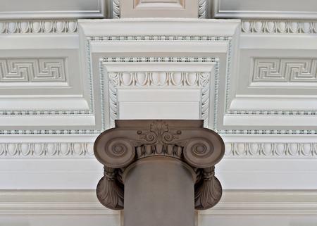 cornice: Intricate plaster cornice ceiling