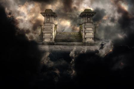 infierno: Gran entrada Spooky al cielo o al infierno