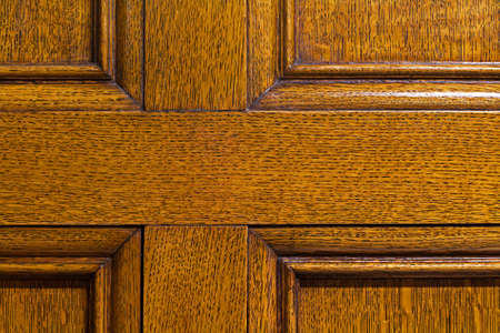Classical solid oak wood panelling Stock Photo