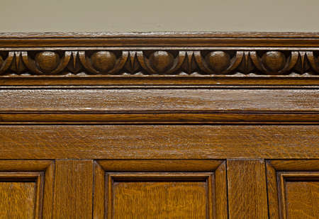 Beautiful antique solid oak panelling with egg and dart cornice