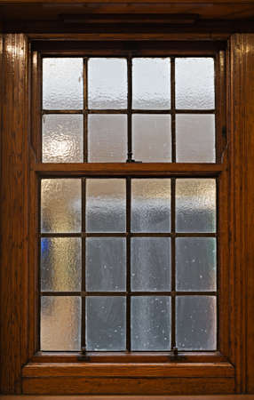 sliding: Beautiful solid oak sliding sash window Stock Photo