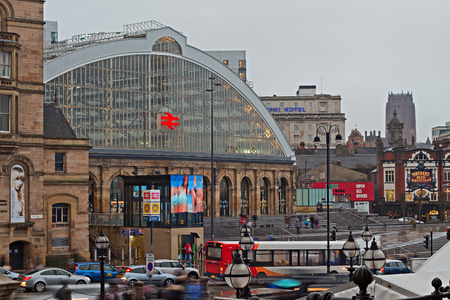 inter: LIVERPOOL 16TH JANUARY 2016. Lime Street station, the main rail link into the city of Liverpool