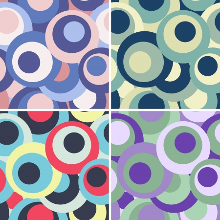 set of funny circle backgrounds Illustration